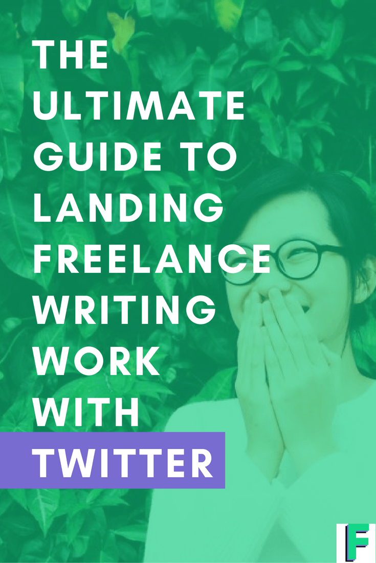 THE ULTIMATE GUIDE TO LANDING FREELANCE WRITING WORK WITH TWITTER. If you're struggling with mixing social media and landing new work with it, then chances are that you're missing a crucial step. In this post, I'll teach you a simple way to use Twitter to land writing work.